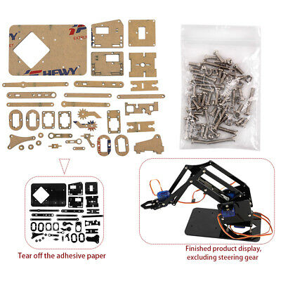 DIY Robot Hand Mechanical Arm Robotic Claw Set Suitable for SG90 UNO LM X9Q0