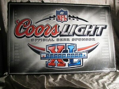 2005 NFL Coors Light Beer Seattle Seahawks Steelers Superbowl Tin Sign