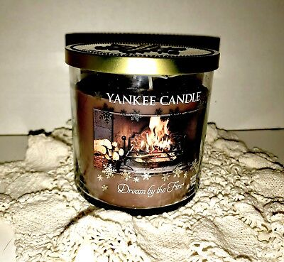 HTF-Yankee Candle CHRISTMAS Dream By The FIRE -12.5 Oz PILLAR Jar Candle-NEW