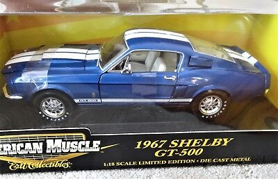 Ertl Collectibles: 1967 Shelby GT-500, American Muscle 1:18 Scale Diecast