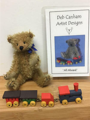 "Deb Canham, Idex & Birmingham Special 3.5"" Bear W/train - All Aboard (Le#12/50)"