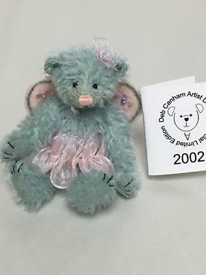 "Artist Deb Canham Fairytales Exclusive Miniature Teddy Bear ""serenity"" 27/100"