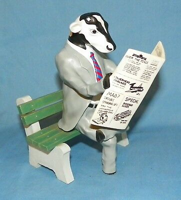 2004 Cow Parade Citizen Cow 11565 Cow Reading Newspaper Figurine