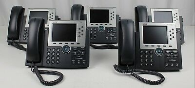 Lot of (5) Cisco IP Business Phones Color Display VoIP PoE (CP-7965)