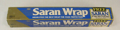 """1 Pkg Saran Wrap by Dow Brands 50 Square Feet 11-1/2"""" Wide Vintage 1992"""