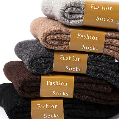3 Pairs Men/Women Winter Protection Thermal Wool Socks Snow Thick Sock