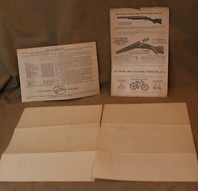 Vintage IVER JOHNSON Firearms Advertising 1927 Ephemera Price Lists Letters