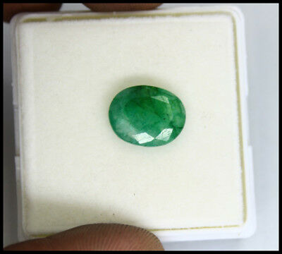 4.55Ct EGL Certified Natural Superb Quality Green Emerald Loose Gemstone AX1140