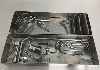 """Automated Medical 22"""" Iron Intern Single-Arm Retractor Set, 21 Pieces"""