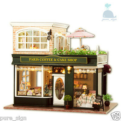 DIY Handcraft Miniature Project My Little Coffee Shop n Paris Wooden Dolls House