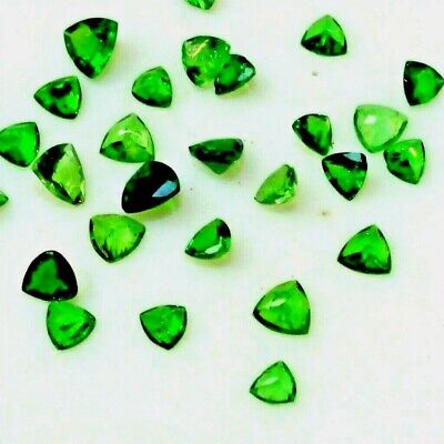 Lot of 2.6mm to 4mm Trillion Tsavorite Green Garnet Loose Calibrated Gemstone