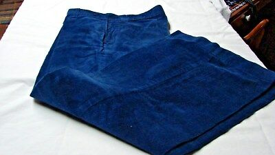 NOS 1970s Vintage BOYS BILLY THE KID BLUE CORDUROY BELL BOTTOM JEANS