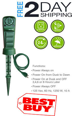 Timer Switch Outlet Outdoor Mechanical Light Sensor Timer Switch Outdoor