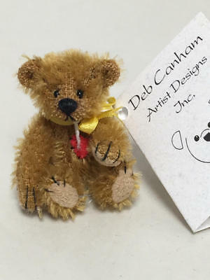 "Artist Deb Canham Have A Heart Collection Miniature Bear ""tiny Teddy"" 74/1"