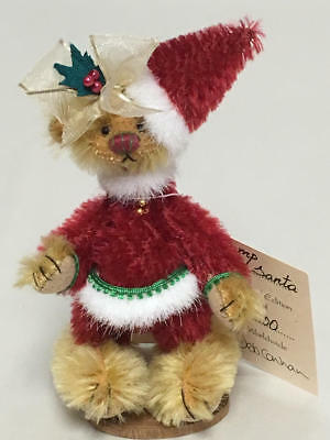 "Artist Deb Canham The Flump Dumpys Miniature Teddy Bear ""flump Santa"" 339/500"