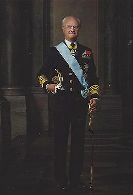 King Carl XVI Gustaf of Sweden - formal portrait