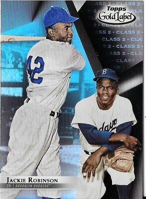 Jackie Robinson 2018 Topps Gold Label Class 2 Black Parallel Dodgers #25