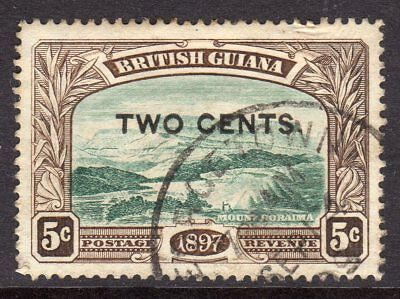 British Guiana 1899 Surch 2c on 5c (Comma after Cents) SG222b Used