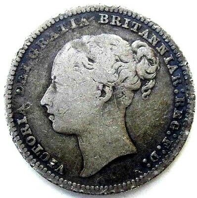 Great Britain Uk Coins, One Shilling 1878, Victoria, Silver 0.925