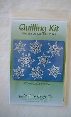 Snowflakes Quilling Kit #261 Instructions & Paper