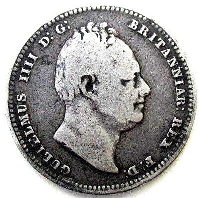 Great Britain Uk Coins, One Shilling 1834, William Iiii, Silver 0.925