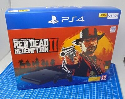 EMPTY BOX ONLY - Sony Playstation 4 - PS4 500GB - Packaging - RED DEAD 2 Edition