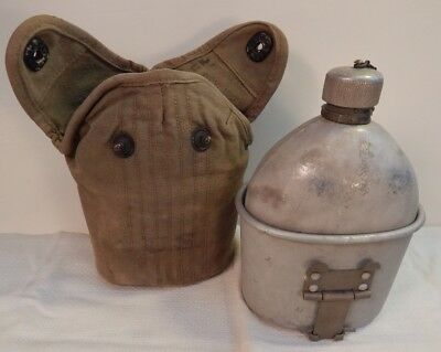 WWI U.S. Army M-1910 Canteen Set, WWI Canteen & Canteen Cup, 1917 Dated Carrier