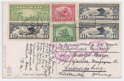 1928 Usa To Germany Zeppelin First Flight Cover, Scarce Franking, L@@k