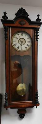 usa walnut and ebonised vienna wall clock by new haven