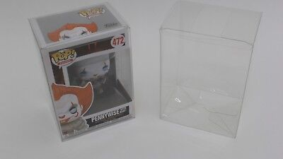 "Extra Thick Heavy Duty Clear Plastic Protector Case for Funko Pop 4"" Vinyl .50mm"