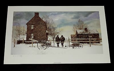 Peter Sculthorpe - Snow For Christmas - A/P - Pennsylvania Landscape Print