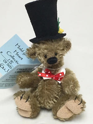 Deb Canham Hold Your Heart Collection Miniature Teddy Bear Oh So Handsome 15/500