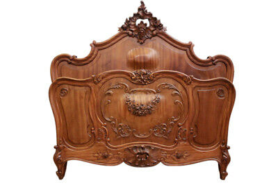 Outstanding Antique French Louis XV Bed, Walnut, 19th Century