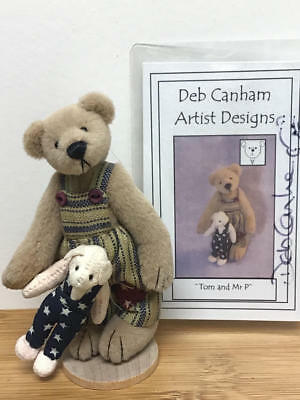 "DEB CANHAM, 1996 COUNTRY COLLECTION 3.5"" TEDDY BEAR- TOM and MR P (LE#1788/3000)"