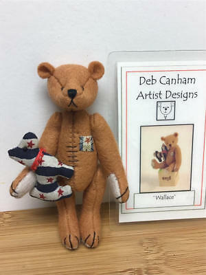 "Deb Canham, 3.75"" Teddy Bear - Wallace  (Le#30/100)"