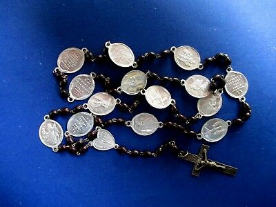 Antique large religious rosary Stations of the Cross (or Way of the Cross)