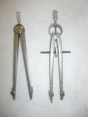 2 Vemco 6 Inch Blue Dot Compass/drafting Tools Approx 6 Inches