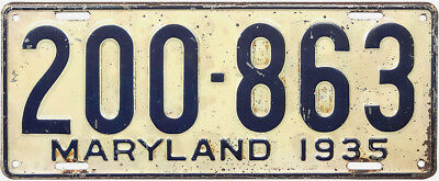 1935 MARYLAND license plate (GIBBY GOOD)