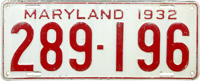 1932 MARYLAND license plate (GIBBY CHOICE)