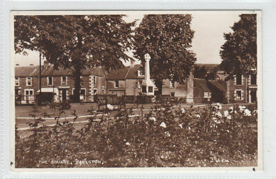 The Square Earlston Berwickshire Real Photograph Aug 1955 Old Postcard Posted