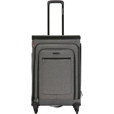 """Travelers Club Luggage Stafford 24"""" Expandable Spinner Softside Checked NEW"""