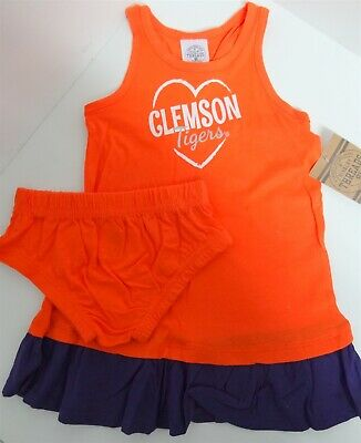 Rivalry Threads Girl's Infant Clemson Tigers 2 Piece Outfit 18 M Orange/Purple