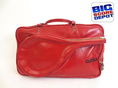 562af3d3e34a Rare Vintage 1970s ADIDAS Red Racquetball Tennis Duffle Sports Bag with Keys