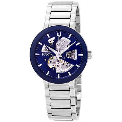 Bulova Modern Automatic Blue Dial Men's Watch 96A204