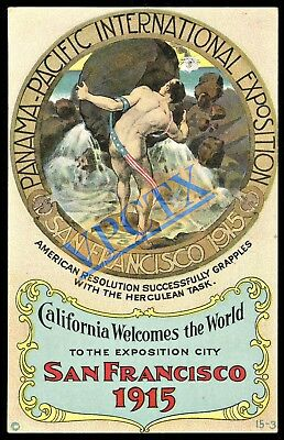 1915 San Francisco PPIE Panama-Pacific Expo  ~ Poster Art Postcard #1