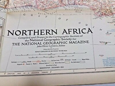 Vintage National Geographic Map - Northern Africa (1954)