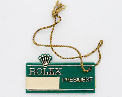 Vintage 1980's Rolex Green Hang Tag for the 18038 Day-Date! Excellent Condition!