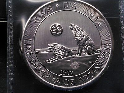 2016 Canada Silver two dollar coin, Wolves Howling