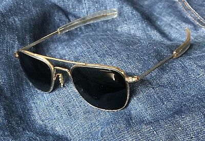 Vintage Desert Storm Air Force Aviator Rx Sunglasses Randolph Engineering 5 1/2