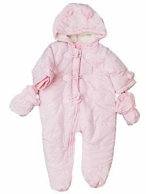 7f0259c72 PLACE INFANT GIRLS Ivory Quilted Snowsuit Baby Pram Snow Suit ...
